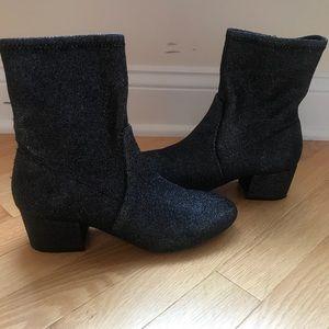 Sparkly black Michael Kors boots